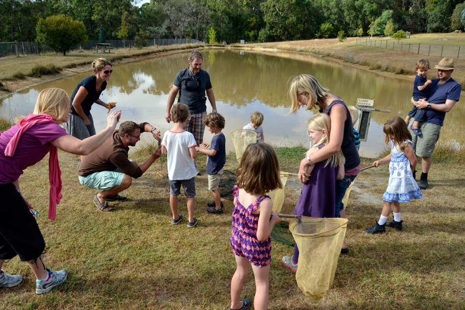 School holiday activities at the dam